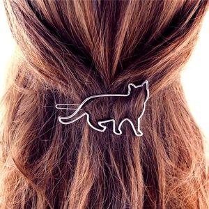 Accessories - 5/$25- Kitty Cat Barrette Hair Clip (Silver)